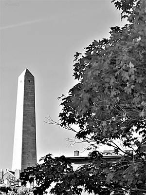 Photograph - The Bunker Hill Monument In Charlestown Massachusetts B W by Rob Hans