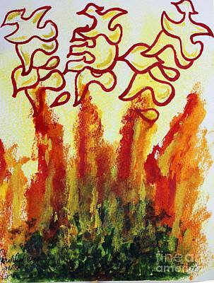 Painting - The Burning Bush . by Hebrewletters Sl