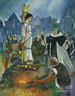 Painting - The Burning Of Joan Of Arc by Angus McBride