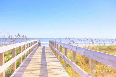 Digital Art - The Calm Of The Beach by Randy Steele