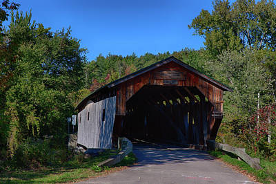 Photograph - The Cambridge Junction Covered Bridge  by Jeff Folger