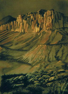 Drawing - The Canyon by Barbara Keith