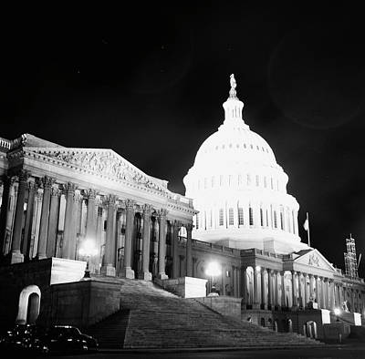 Photograph - The Capitol At Night by Rae Russel
