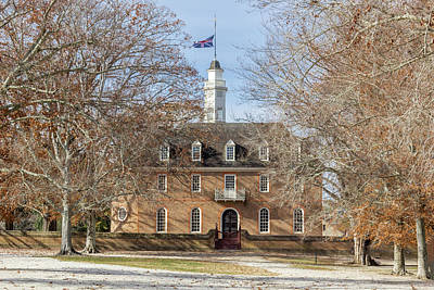 Photograph - The Capitol Building In Colonial Williamsburg by Teresa Mucha