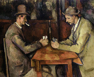 The Joker Wall Art - Painting - The Card Players, 1895 by Paul Cezanne