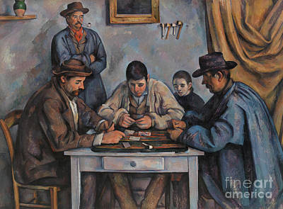 Painting - The Card Players By Cezanne by Paul Cezanne