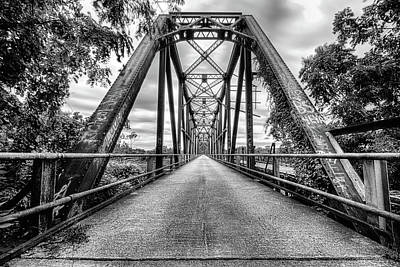 Photograph - The Carpenters Bluff Bridge Black And White by JC Findley