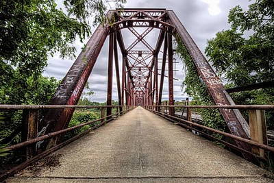 Photograph - The Carpenters Bluff Bridge by JC Findley