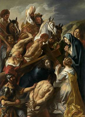 Painting - The Carrying Of The Cross, 1657 by Jacob Jordaens