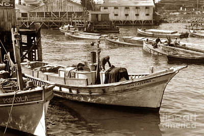 Photograph - The Caterina And The  Portola Monterey Clipper Bow Fishing Boats by California Views Archives Mr Pat Hathaway Archives