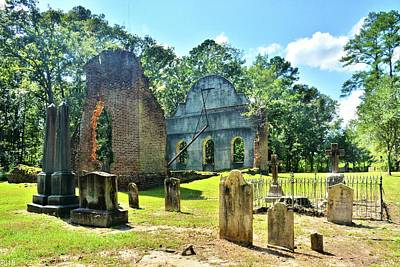 Photograph - The Cemetery At Pon Pon Chapel Of Ease Jacksonboro South Carolina by Lisa Wooten