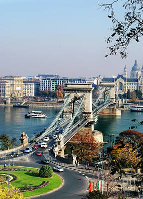 Photograph - The Chain Bridge In Budapest by Jelena Jovanovic