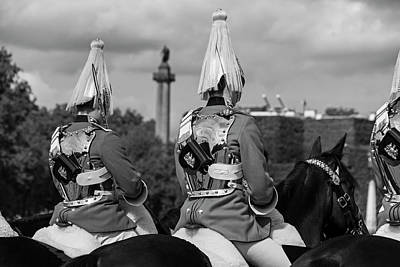 Photograph - The Changing Of The Horse Guard London Uk United Kingdom Black And White by Toby McGuire