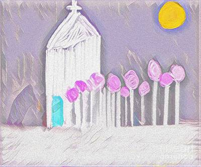 Mixed Media - The Chapel by Jessica Eli