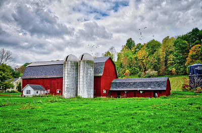 Photograph - The Charm Of Farm Life In The Finger Lakes by Lynn Bauer