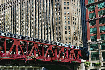Photograph - The Chicago L # 2 by Allen Beatty