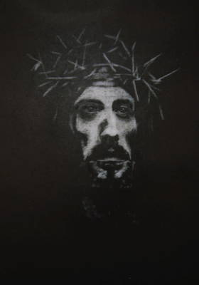 Drawing - The Christ by Barbara Keith
