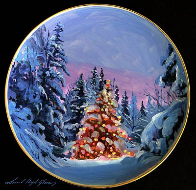 Painting - The Christmas Forest by David Lloyd Glover