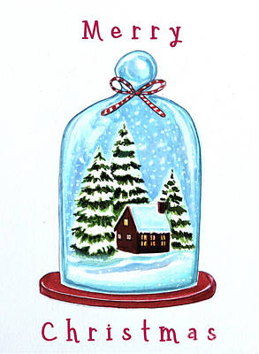Painting - The Christmas Terrarium by Elizabeth Robinette Tyndall