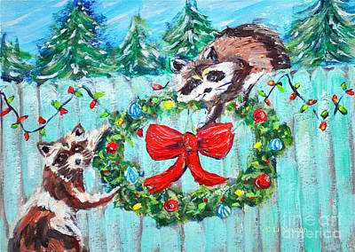 Painting - The Christmas Thieves by Li Newton