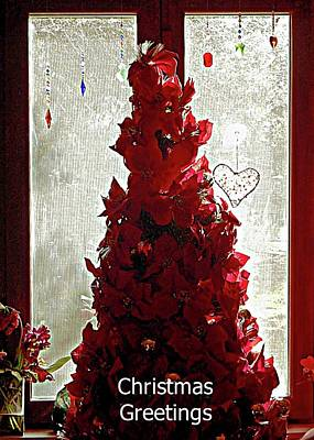 Mixed Media - The Christmas Tree Window by Dorothy Berry-Lound