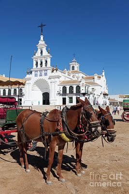 Claude Monet - The church Nuestra Senora del Rocio in Rocio, Huelva, Andalucia, by Francisco Javier Gil Oreja