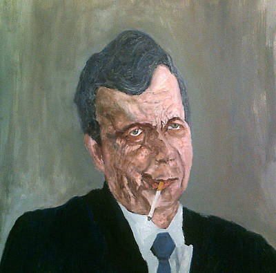 Painting - The Cigarette-smoking Man by Peter Gartner