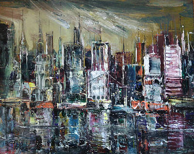 Painting - The City Awakens by Stefano Popovski
