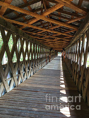 Christmas Patents Rights Managed Images - The Clarkson Covered Bridge Royalty-Free Image by Barb Dalton
