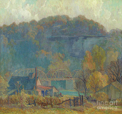 Painting - The Cliff At Morning, Ozarks by Carl Rudolph Krafft