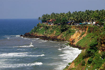 Kerala Photograph - The Cliff At Varkala Beach, Kerala by Photograph © Ulrike Henkys