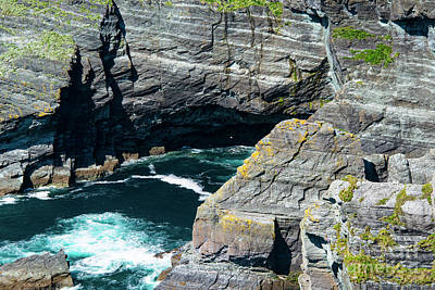 Portmagee Wall Art - Photograph - The Cliffs Of Kerry One by Bob Phillips