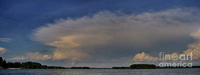 Photograph - The Clouds Of Lake Murray by Skip Willits