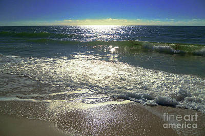 Photograph - The Coast Of North Sea.sparkle Foam by Marina Usmanskaya
