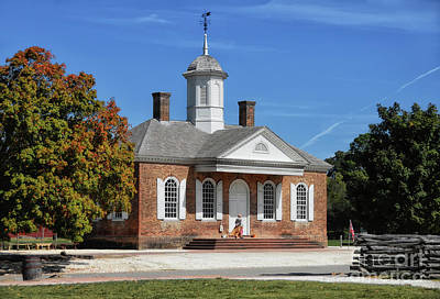 Digital Art - The Colonial Williamsburg Courthouse by Lois Bryan