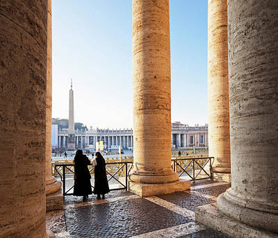 Photograph - The Colonnade At St. Peter Square, Italy by Slow Images