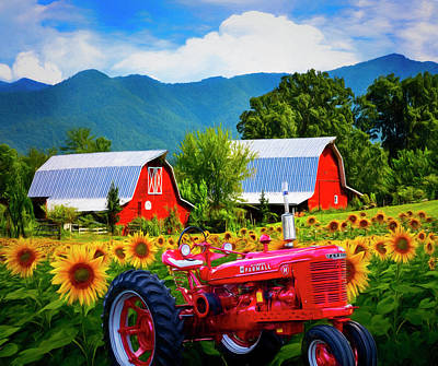 Photograph - The Colors Of Country Painting  by Debra and Dave Vanderlaan