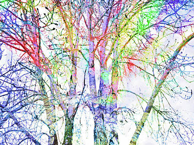 Digital Art - The Colour Inside The Branches by Tara Turner