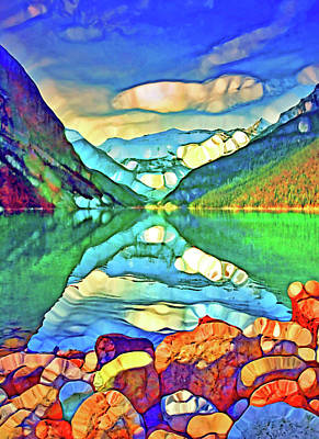 Digital Art - The Colours Of Lake Louise by Tara Turner
