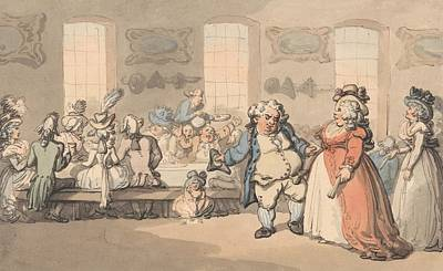 Drawing - The Comforts Of Bath - The Breakfast by Thomas Rowlandson