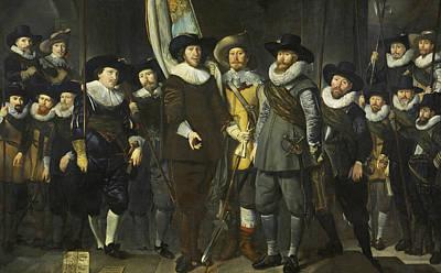Painting - The Company Of Captain Allaert Cloeck And Lieutenant Lucas Jacobsz by Thomas de Keyser