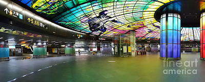 Photograph - The Concourse Of The Formosa Boulevard Station by Yali Shi