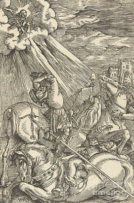 Drawing - The Conversion Of Paul by Hans Baldung Grien