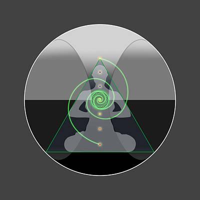 Digital Art - The Core by Scott Onstott