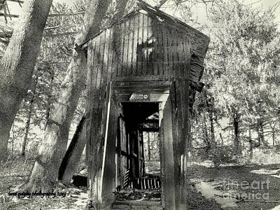 Photograph - The Corn Crib In Winter by Tami Quigley