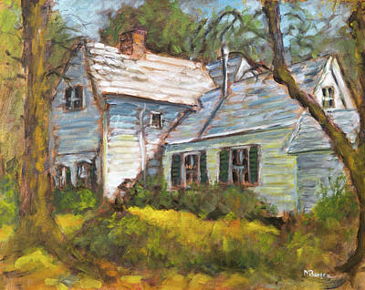 Painting - The Cornelius Farmhouse by Mike Bergen