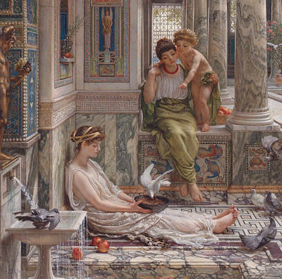 Painting - The Corner Of The Villa by Edward Poynter