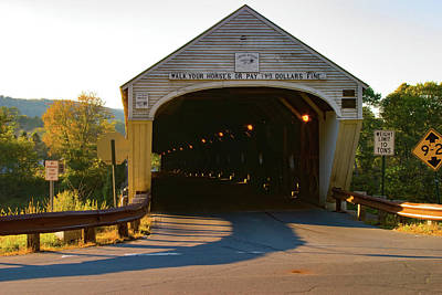Photograph - The Cornish Windsor Covered Bridge  by Jeff Folger