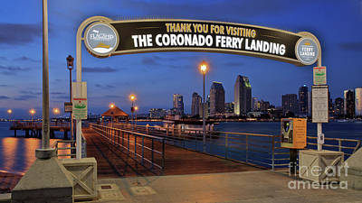 Photograph - The Coronado Ferry Landing by Sam Antonio Photography