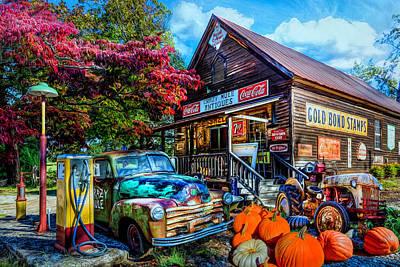 Digital Art - The Crazy Mule Antiques by Debra and Dave Vanderlaan